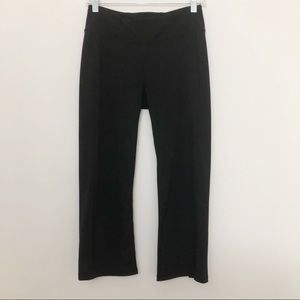 Gaiam Black Cropped Straight Leg Leggings